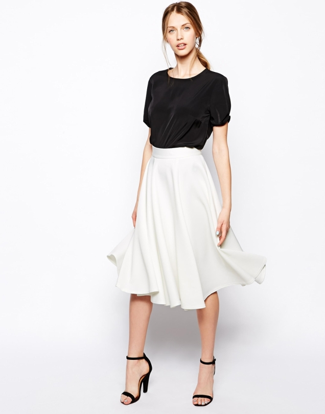Closet Full Skater Skirt in Scuba